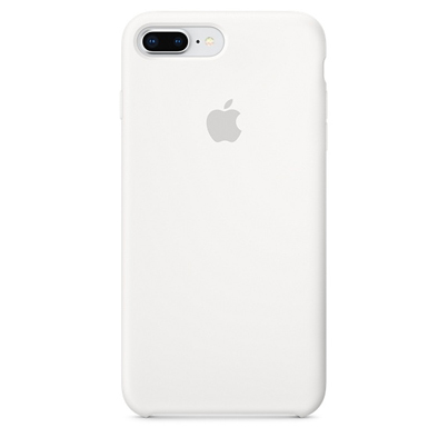 Чехол Silicone Case для iPhone 8/7 Plus White, белый